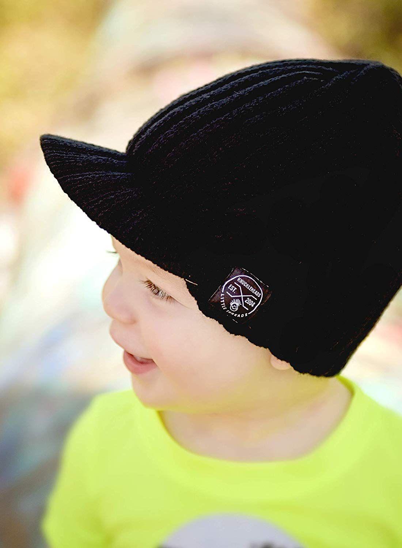 bcf041596f Amazon.com: Born to Love Knuckleheads - Gray Boy's Baby Visor Beanie ...