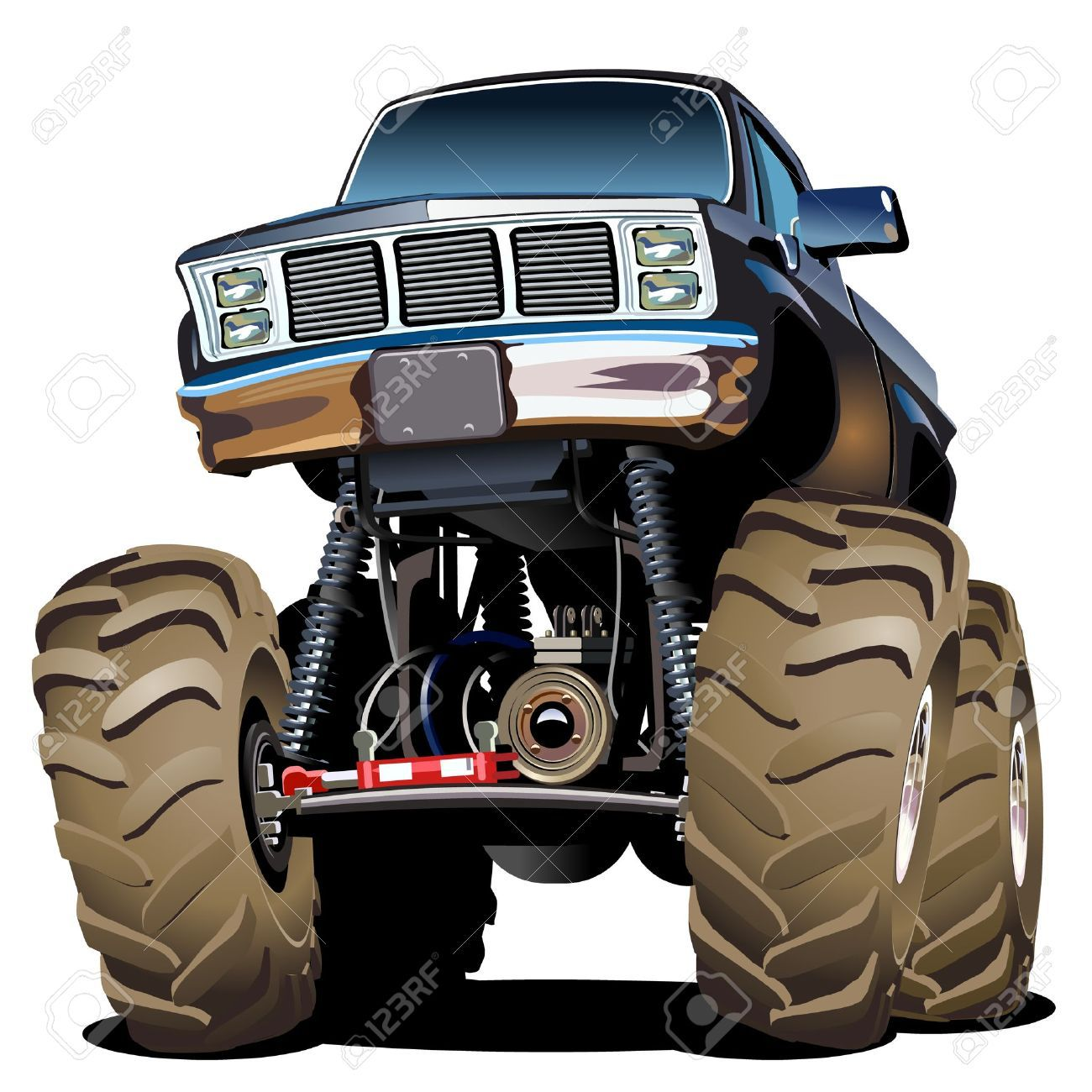 Mud Truck Clipart Monster Trucks Cartoon Monsters Mud Trucks