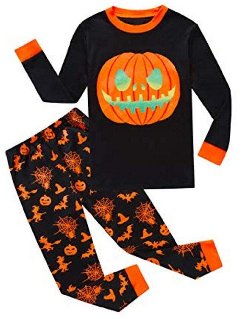 cdc0afbf Baby Boys Girls Pumpkin Print Long Sleeve T Shirt Tops Pants Halloween  Pajamas Set Size 4T Black ** Click photo to evaluate even more details.