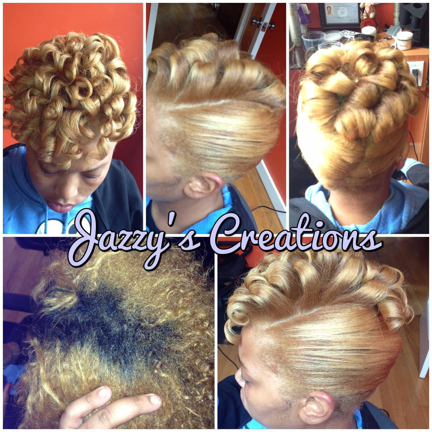 Hair colored blonde with french roll updo hairstyles by jazzys hair colored blonde with french roll updo pmusecretfo Choice Image