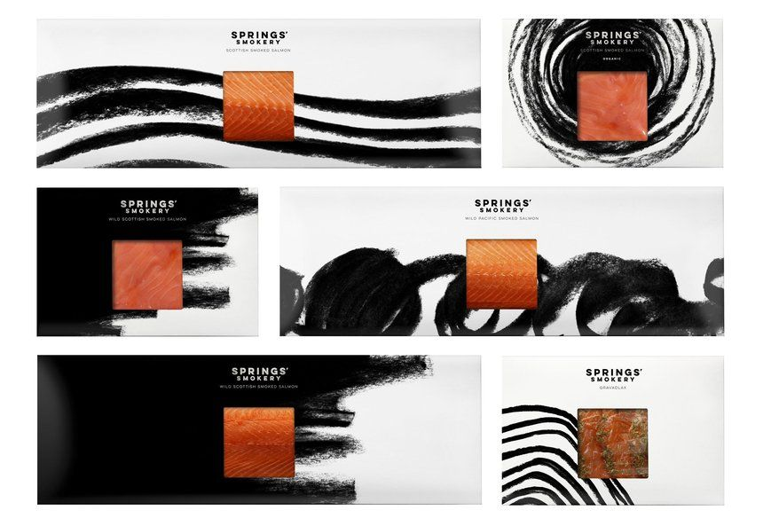 Springs' Smokery   Modern Food Packaging Design Inspiration   Award-winning Packaging Design   D&AD