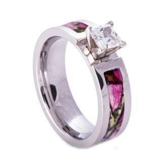Camo Wedding Rings Camouflage Gift Camo Wedding Rings Pink
