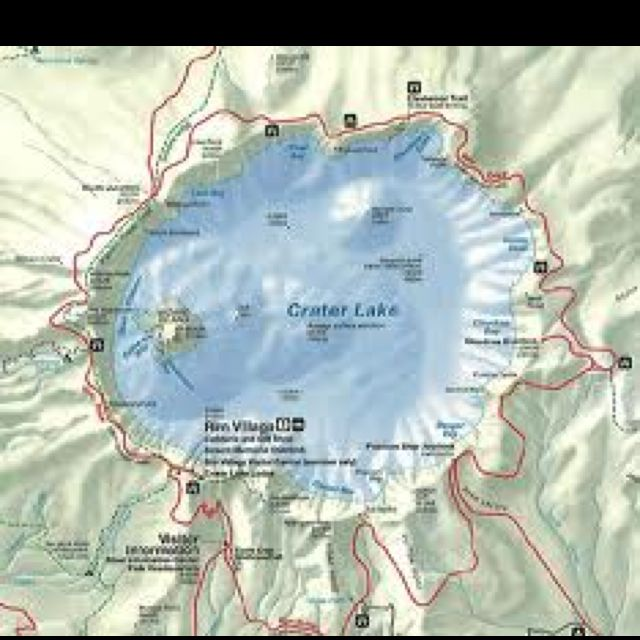 crater lake national park oregon map Map Of Crater Lake Oregon Crater Lake Oregon Crater Lake crater lake national park oregon map