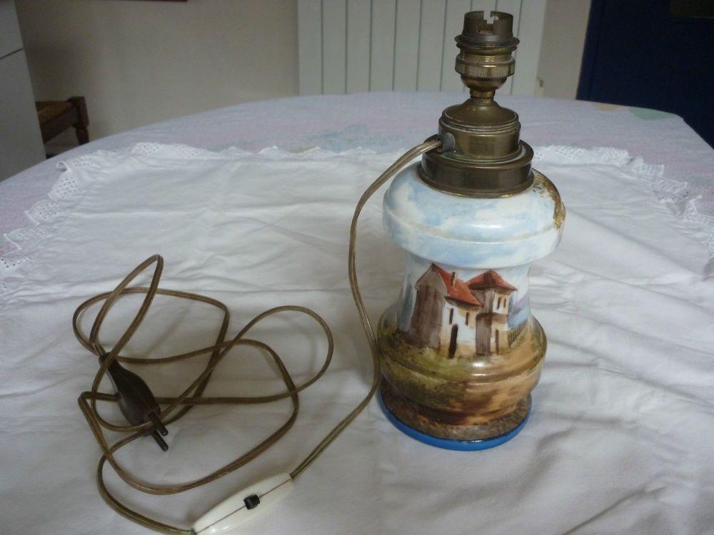 Maison Montee Decor Champetre Et Paris Lampe Petrole A Porcelaine Ybg76yf