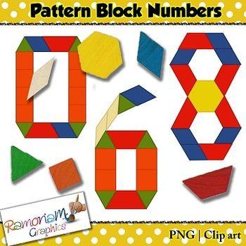 Pattern Block Numbers Clip Art Clip Art Pattern Blocks Art