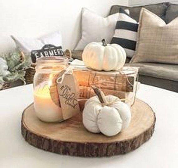 Rustic Fall Decor, Rustic Holiday Décor, Wood Slices, Fall Wedding Decor, Fall Centerpieces, Fall Decorations, Thanksgiving Table #falldecorideas