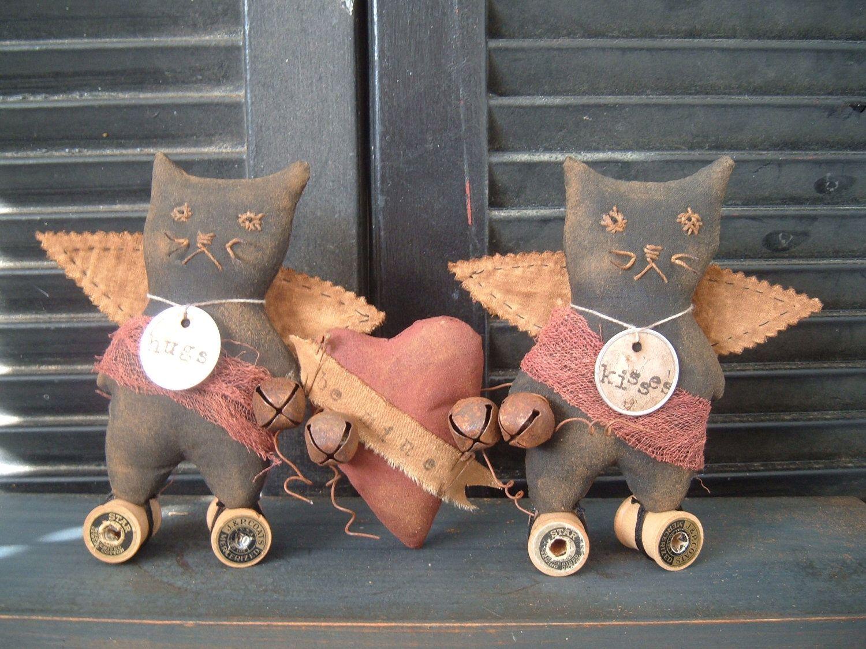 PriMitiVe ValeNtiNe Kitties epatterN Instant Download