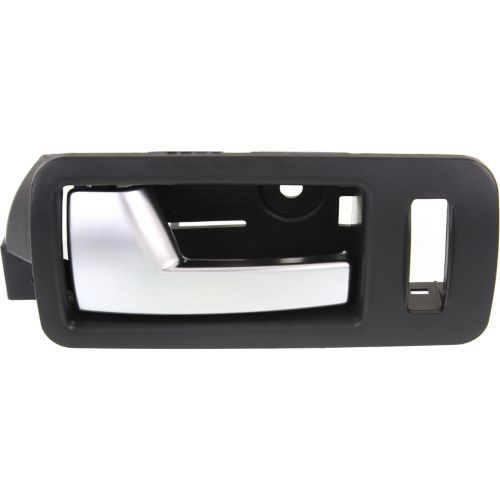 2005-2014 Ford Mustang Front Door Handle LH,Silver Lever/Black Housing,Plastic