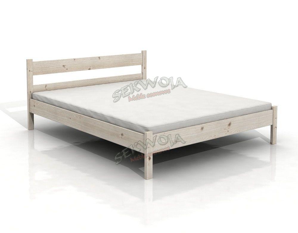Meble Sosnowe łóżko Drewniane Mant 120x200 Białe