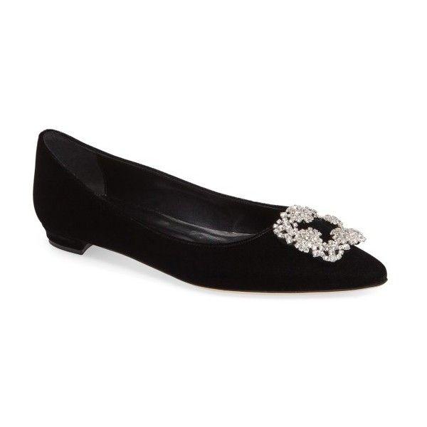 Women S Manolo Blahnik Hangisi Pointy Toe Flat 955 Liked On