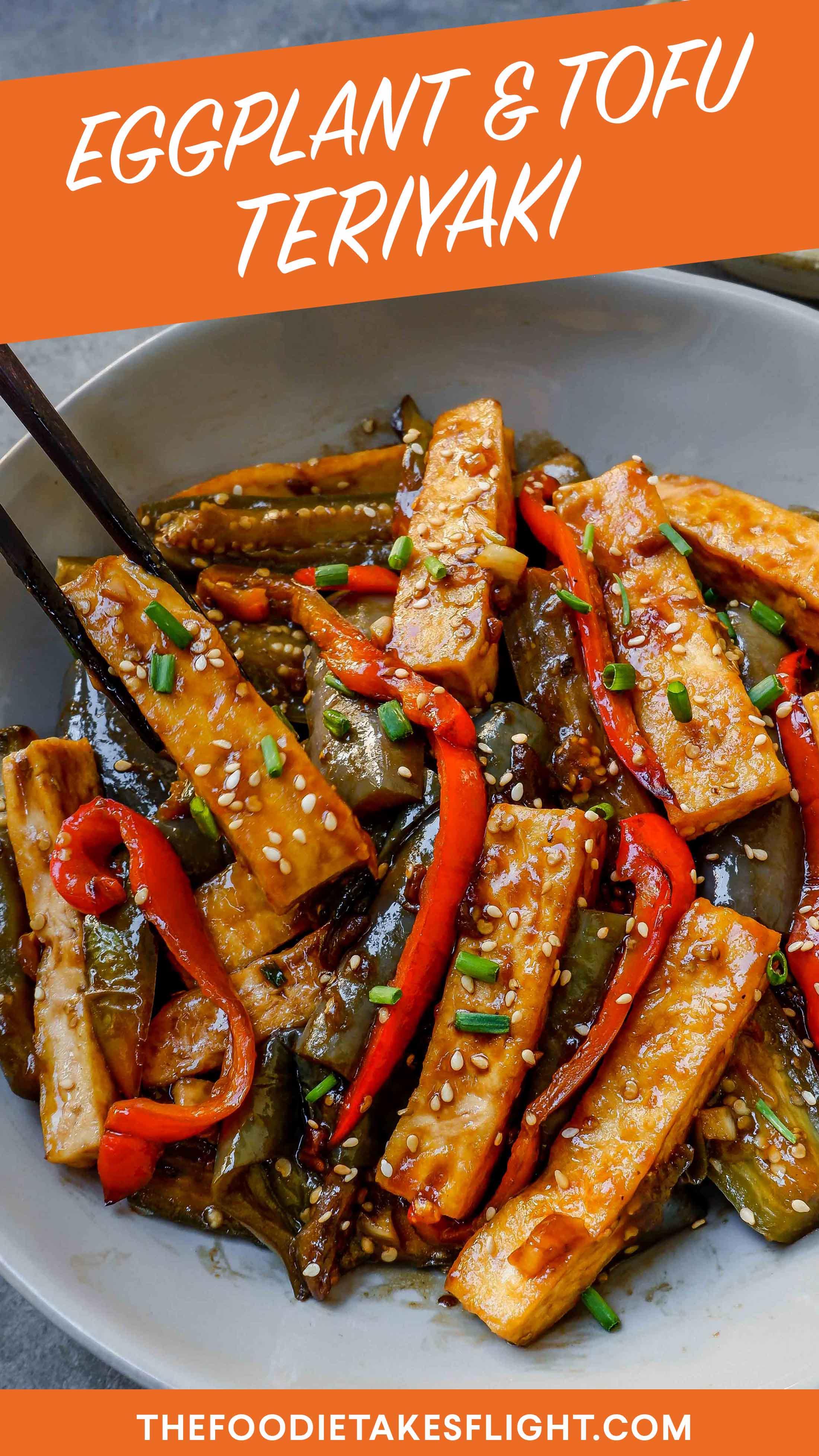 Eggplant And Tofu Teriyaki Vegan Recipe Recipe Vegan Eggplant Recipes Healthy Recipes Easy Snacks Tofu Recipes Healthy