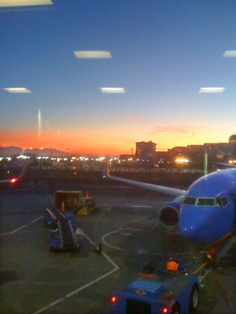 Early morning flight, Phoenix Sky Harbor to LAX