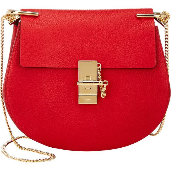 Chloé Drew Small Crossbody (65,690 THB) ❤ liked on Polyvore featuring bags, handbags, shoulder bags, red, shoulder strap handbags, cross body purse, crossbody shoulder bags and crossbody