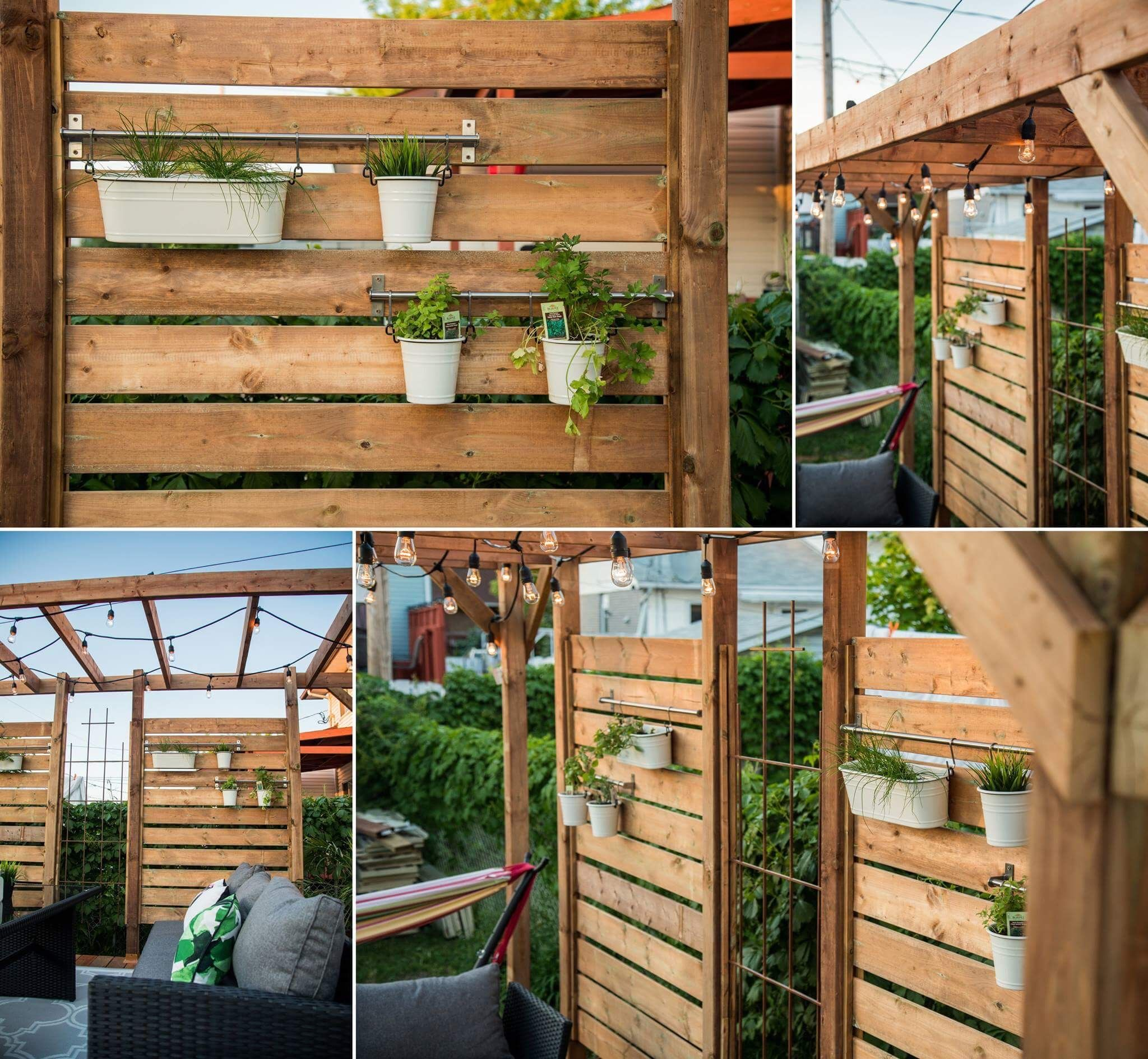 My new patio with intime wall and green wall #terrasse # ... on Green Wall Patio id=44407
