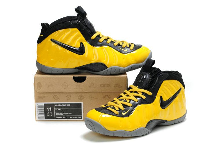 official photos e4fe3 3d1ce Nike Air Foamposite Yellow Black Gray Really Cheap Foamposites