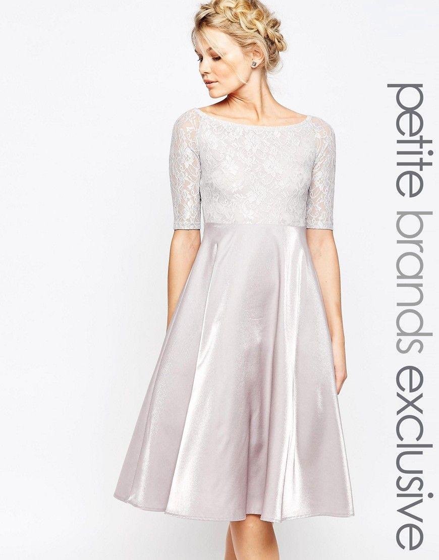 True decadence petite lace bardot midi prom dress dresses