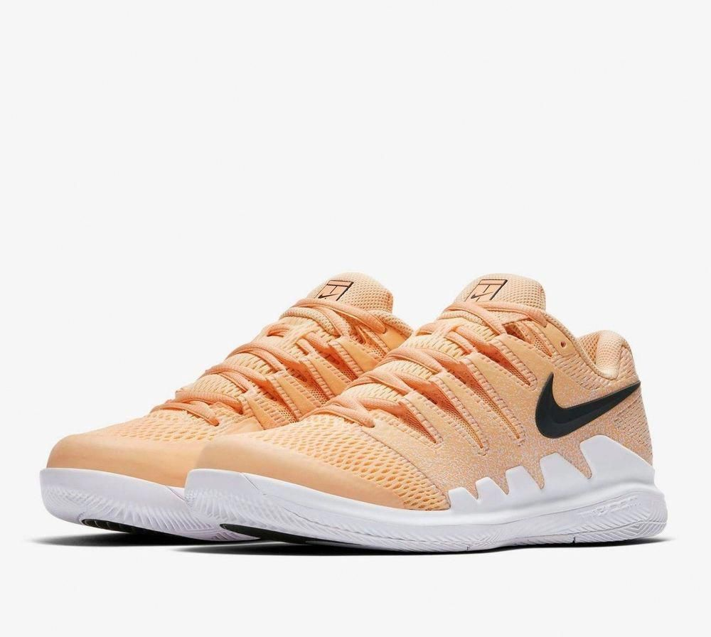 best cheap 0068b c6d97 Nike Air Zoom Vapor X HC Tennis Shoes Womens 7.5 Tangerine Tint White  AA8027 801 #Nike #TennisShoes #Womensshoes8.5Narrow