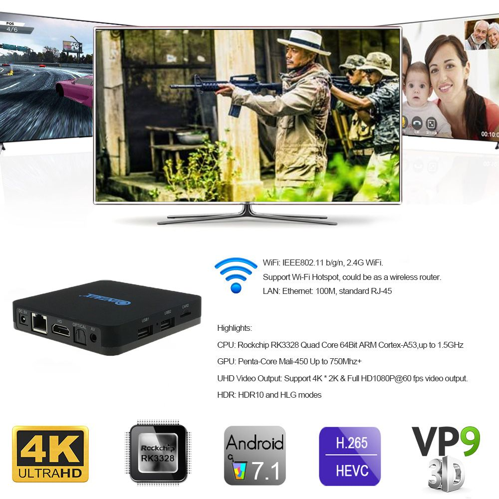 Click To Buy Qintaix Q28 Quad Core 4k Google Android 71 Tv Box X96 S905x Quadcore Amlogic Marshmallow 60 Ram 2gb Rom 16gb
