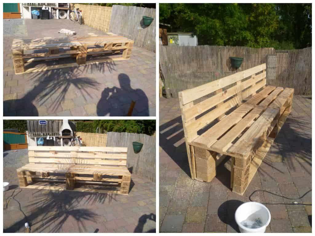 Pallets Garden Bench Banc De Jardin En Palettes Pallet Garden Benches Pallet Diy Outdoor Patio Table