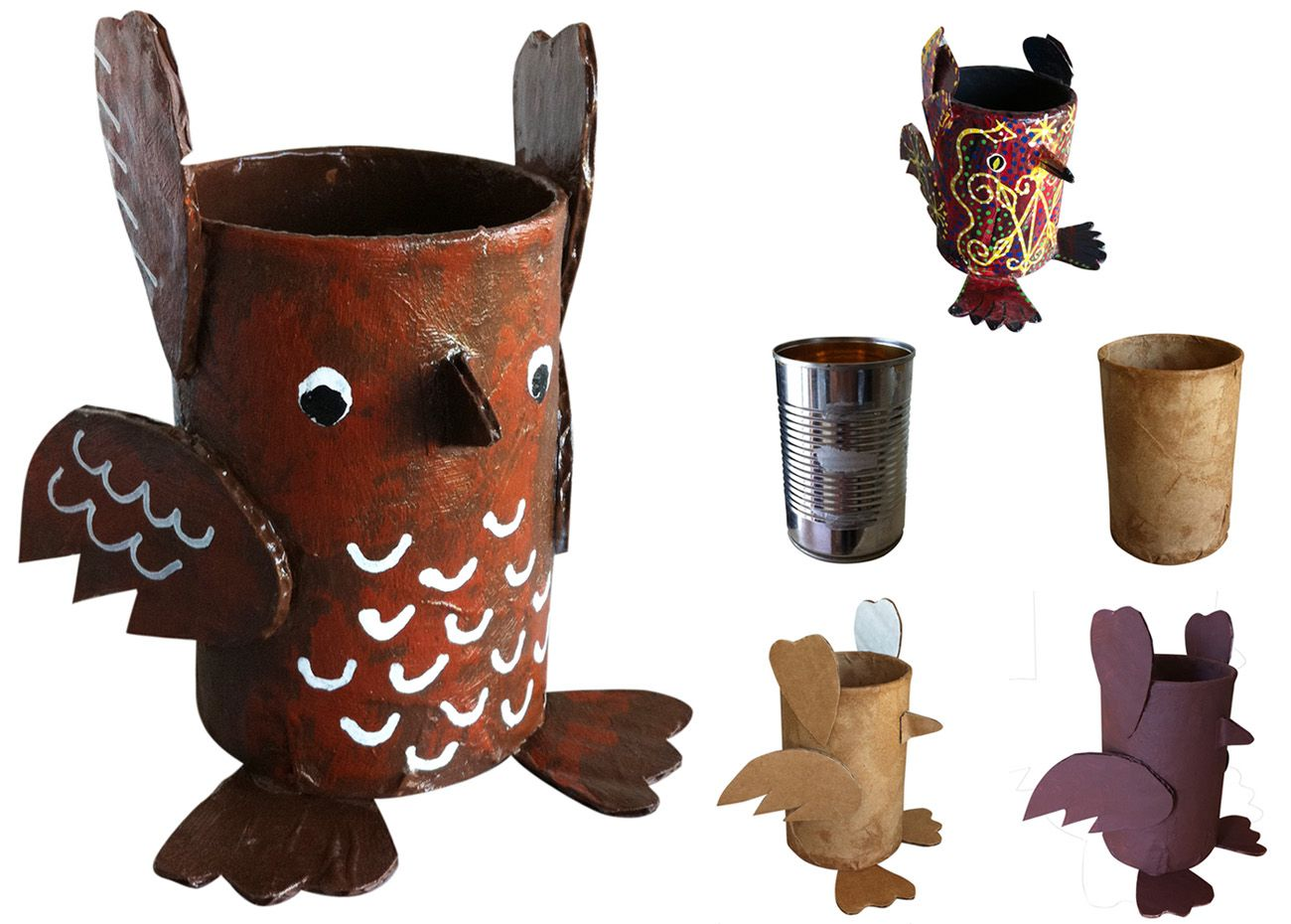 art projects for kids soup can paper mache owl all others