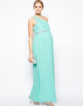 Turquoise Goddess Like Maternity Gown   Great For Expecting Bridesmaids And  Wedding Guests!