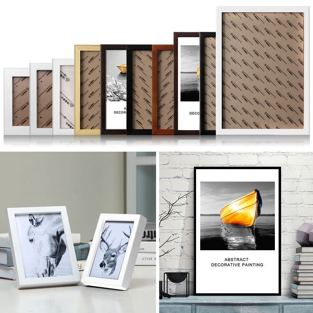 aud wooden photo frame picture frames home wall art decor