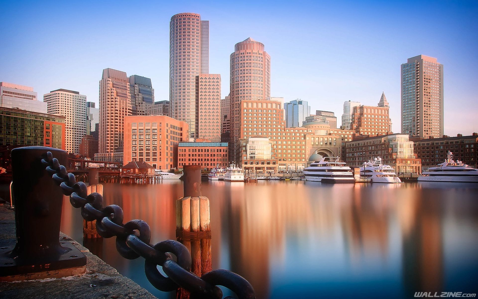 Boston Skyline Wallpaper