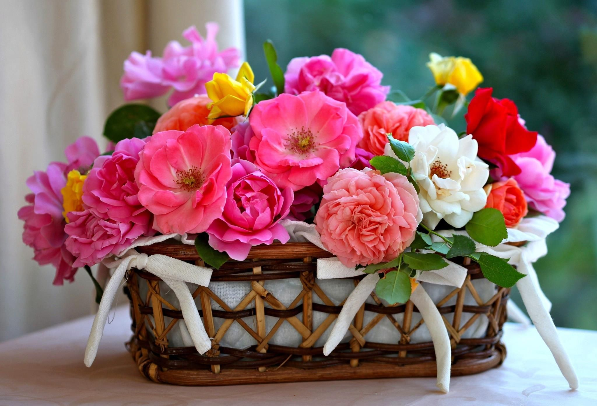 Pin by tnia sar on flower arrengements pinterest flowers a basket of flower for a sweet friend lisa mandy avaboo hd desktop wallpaper izmirmasajfo