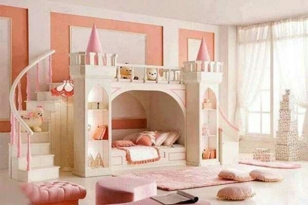 Beautiful Pincess Bunk Bed With Slide Princess Bunk Beds Bunk