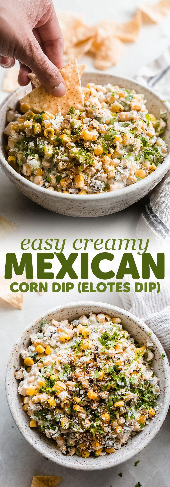 Creamy Mexican Corn Dip (Elotes Dip) #mexicanstreetcorn