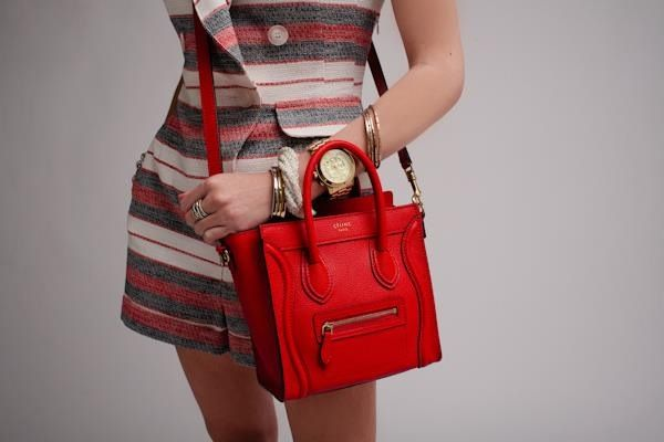 97e51d4811 Celine mini luggage  Red