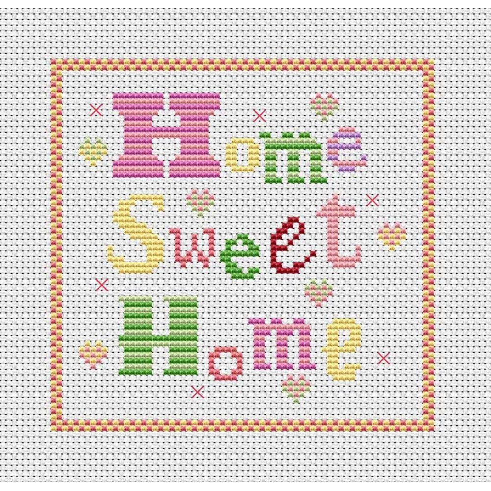 Cross stitch patterns free printable home sweet