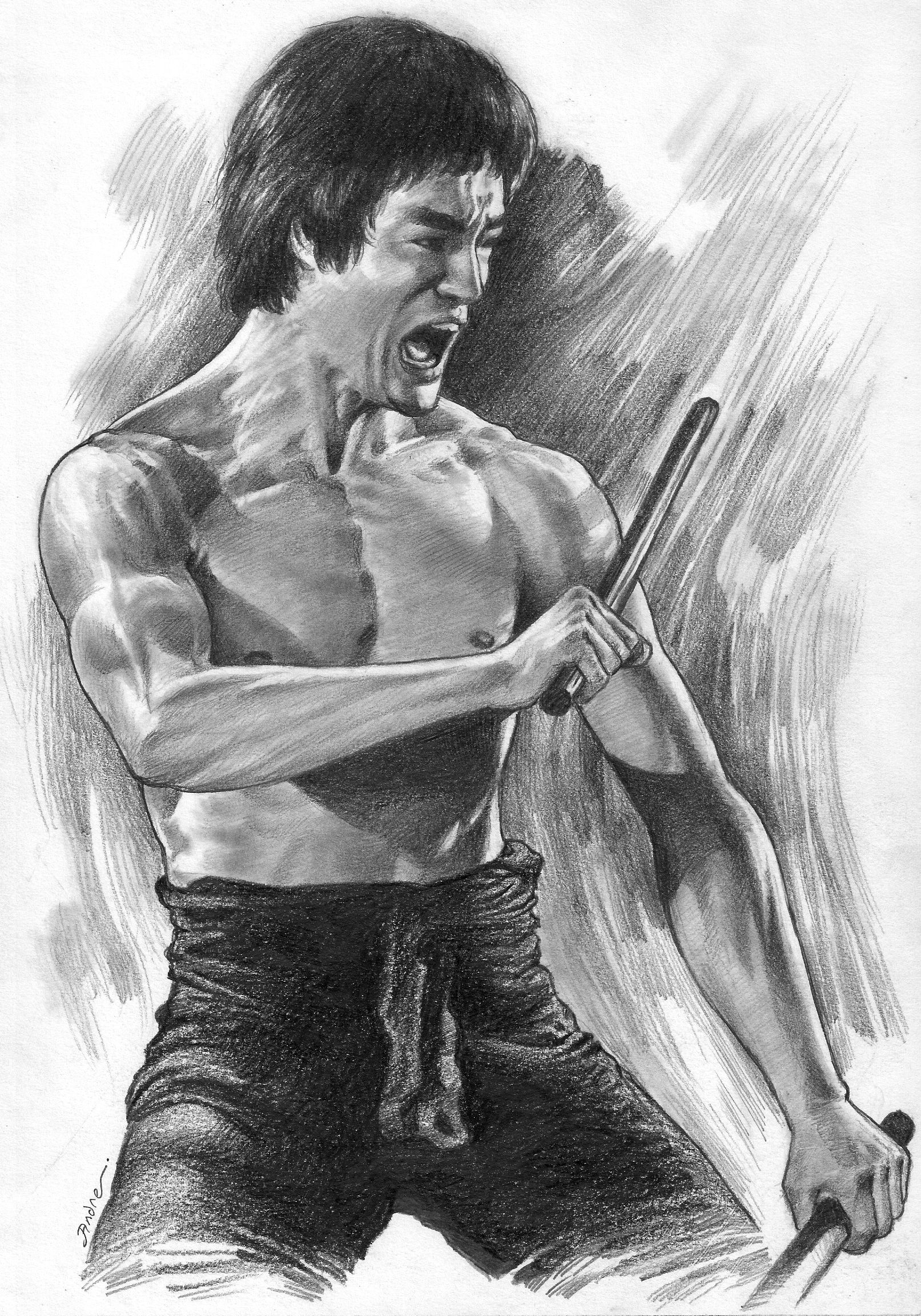 Wow Awesome Drawing On My Idol Rear Amazing Art Work Came Out Really Very Good Who S The Artists B Bruce Lee Art Bruce Lee Martial Arts Bruce Lee