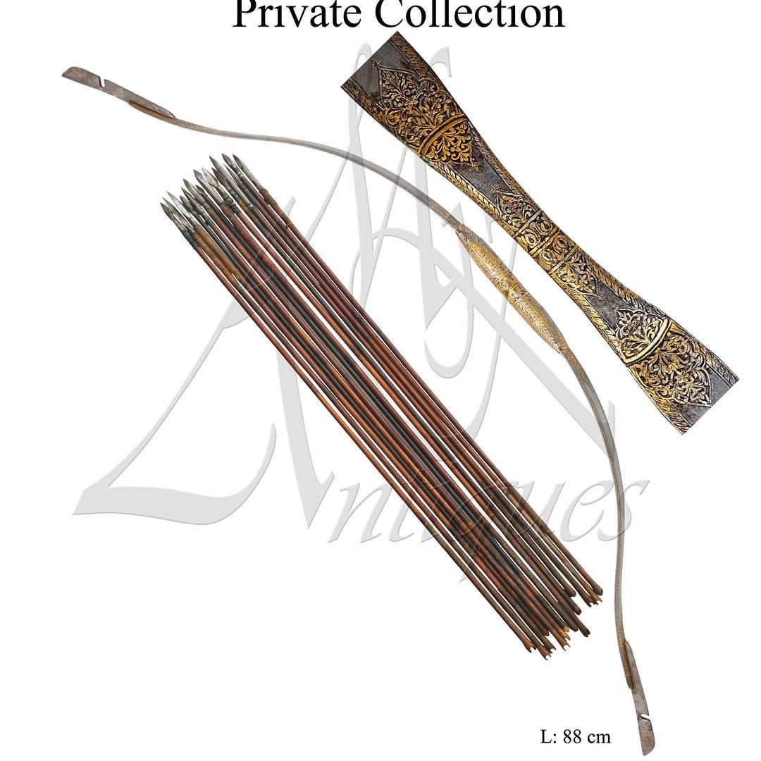 203 Likes 5 Comments Mohd K Mkantiques On Instagram Indian Bow With Arrows Late 18th Century قوس مع نباله Instagram Posts Arms And Armour Instagram