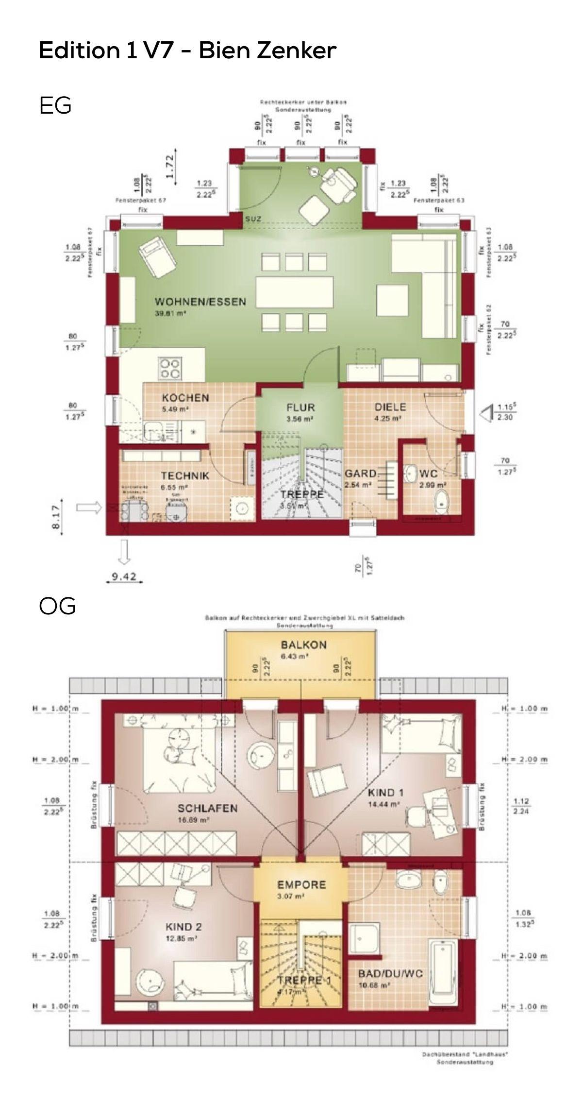 Grundrisse Einfamilienhaus Mit Satteldach Architektur 4 Zimmer