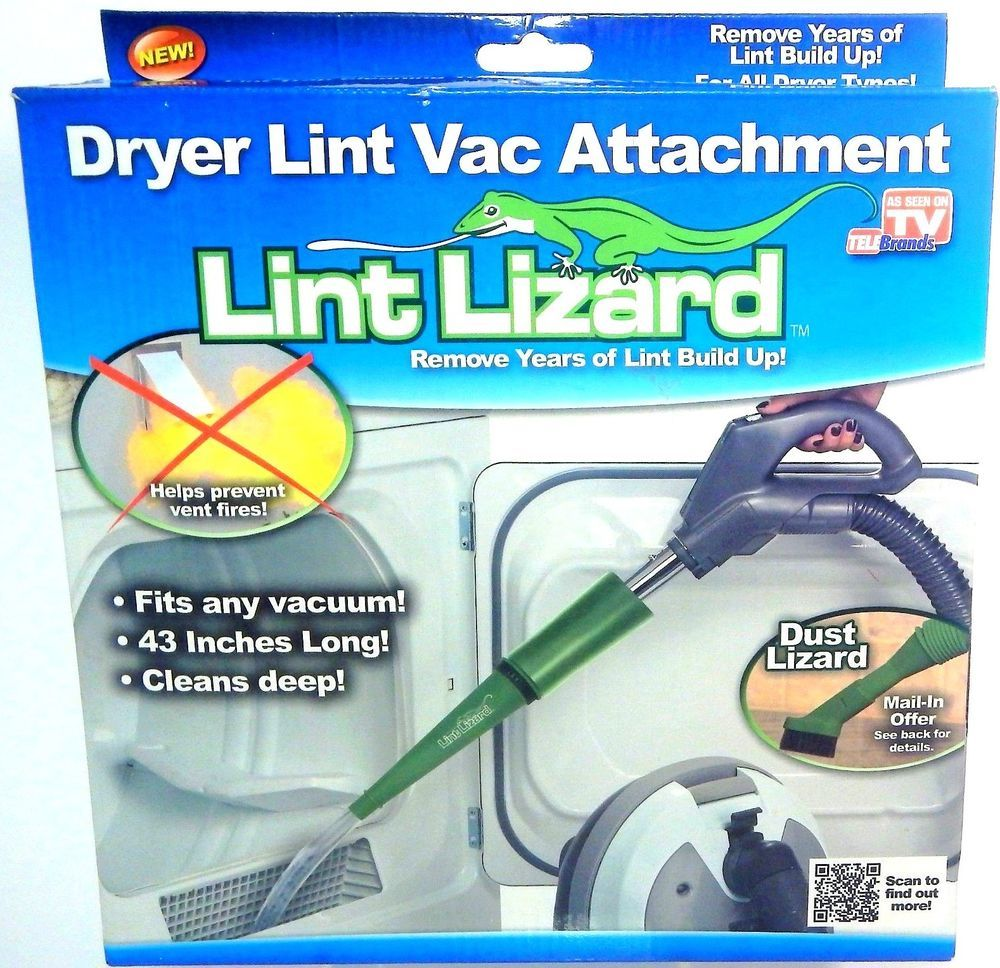 Lint Lizard As Seen On Tv Dryer Lint Vent Dust Removal Vacuum - Dryer Lint Cleaner