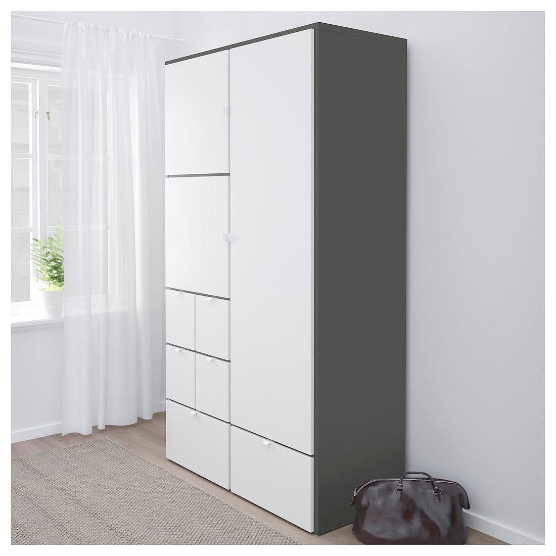 Visthus Kleiderschrank Grau Weiss Ikea Kleiderschrank Grau