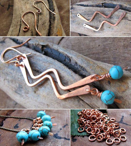 Earrings Findings Set  Handmade Jewelry Findings by NadinArtGlass, $14.50