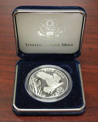 2003 Proof Bald Eagle National Wildlife Refuge .900 Silver Medal-Box & COA (617)