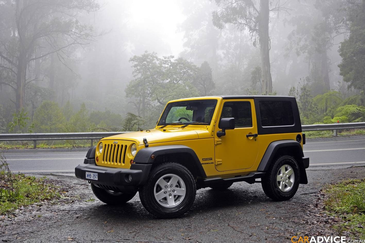 Yellow jeep wrangler one of my