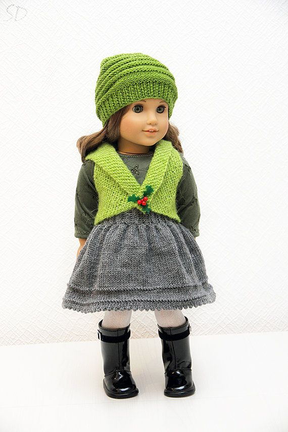 American Girl Christmas Holly Outfit #1 | Puppenkleider, Puppen und ...