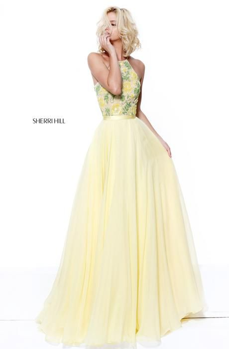 Sherri Hill 50931 Sherri Hill Celebrations Yellow size 8 Prom Dress ...