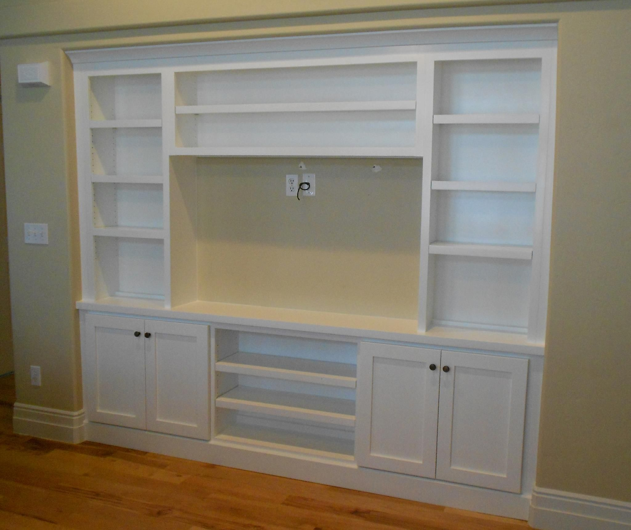 Built In Drywall Shelves Built In Entertainment Center Stuff Ive Made Or