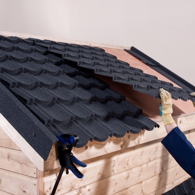 Corotile Lightweight Metal Roofing Sheet Charcoal 1140x860mm Sheet Metal Roofing Metal Roof Roofing Sheets