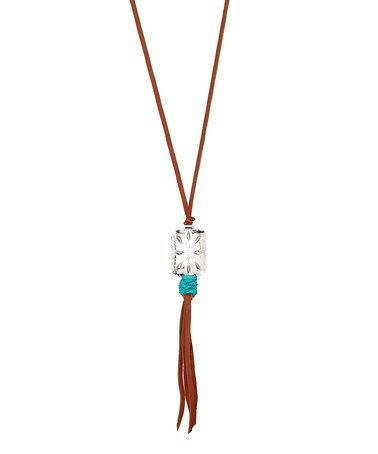 Love this Brown Leather Pendant Necklace on #zulily! #zulilyfinds