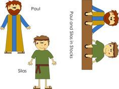 Paul And Silas Craft Com Imagens Ministerio Infantil