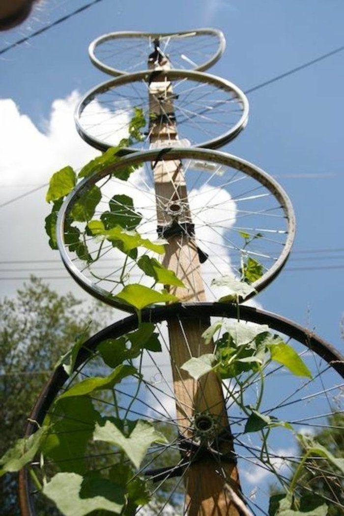 Deko Ideen Selbermachen Fahrradräder Gartendeko Ideen
