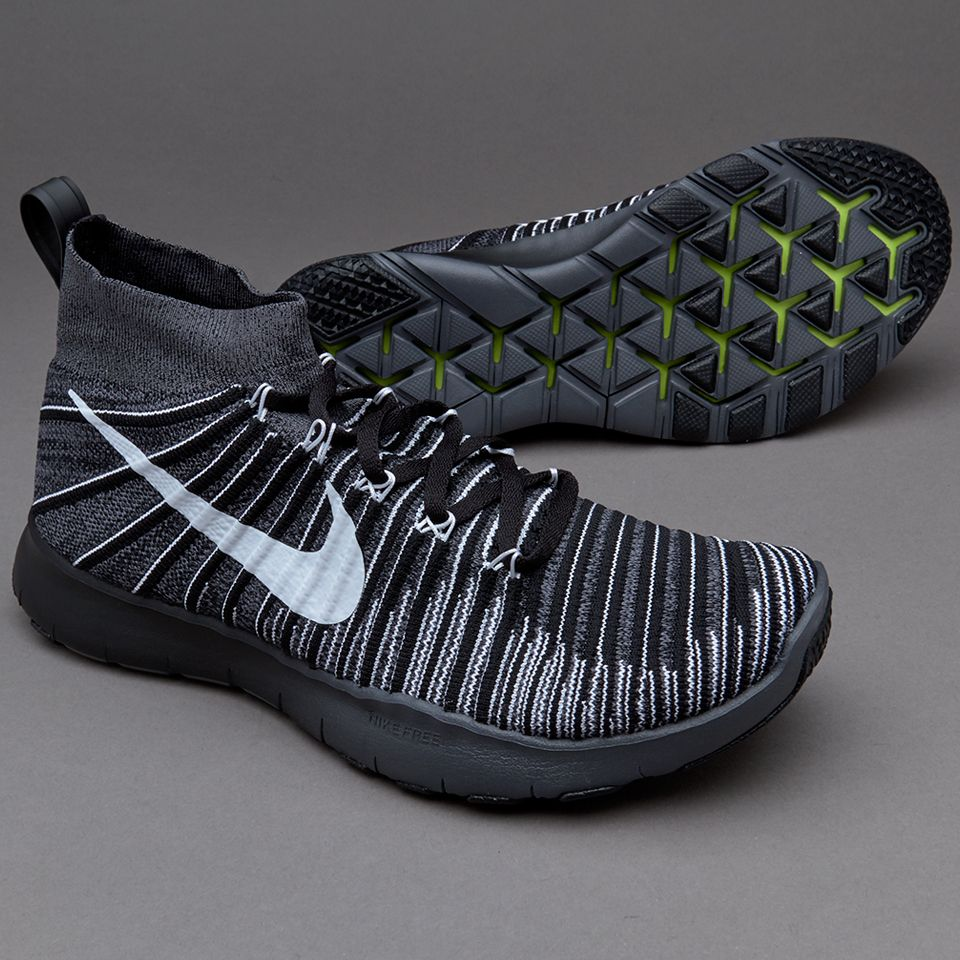 e0e4198587ca Nike Free Train Force Flyknit - Dark Grey White Black Volt