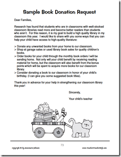Ask and You Shall Receive | Literacy | Letter to parents, Donation