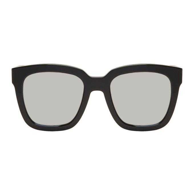 Black & Silver Large Dreamer Hoff Sunglasses | Gentle Monster ...